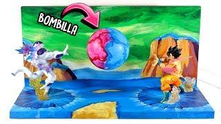 LÁMPARA decorativa con ESCENARIO DE BATALLA   Dragon Ball   DIY