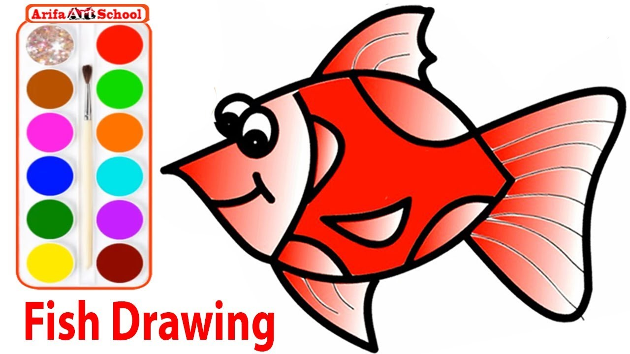 How to Drawing Fish & Coloring Pages for Kids | Coloring Pages For ...
