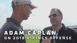 Adam Caplan on Vikings Offense Looking To Go Down Field More, Cook's