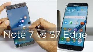 Samsung Galaxy Note 7 vs Galaxy S7 Edge Comparison