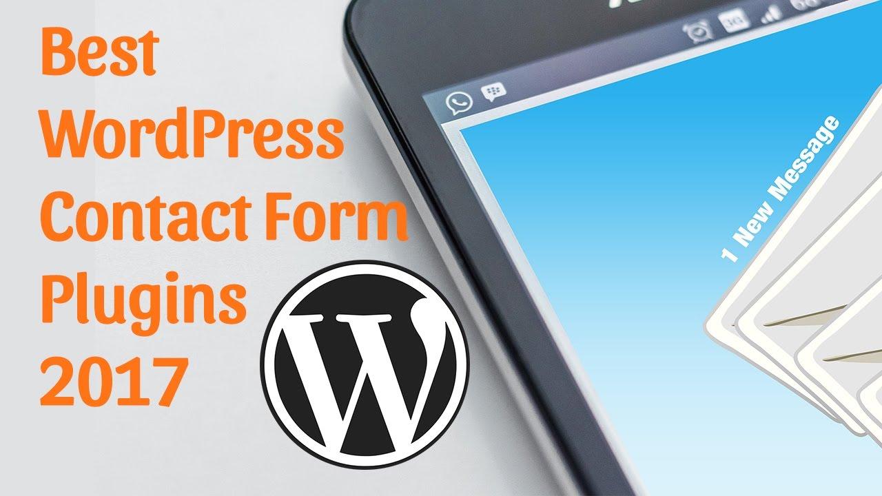Best WordPress Contact Form Plugin 2017 - YouTube