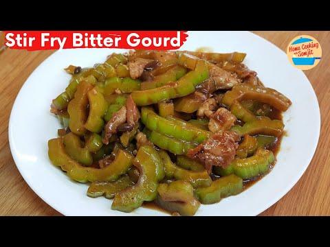 Stir Fry Bitter Gourd in Black Bean Sauce