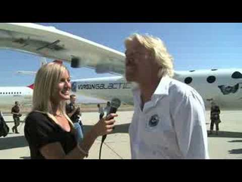 Virgin Glactic White Knight II and Richard Branson Interview | iJustine