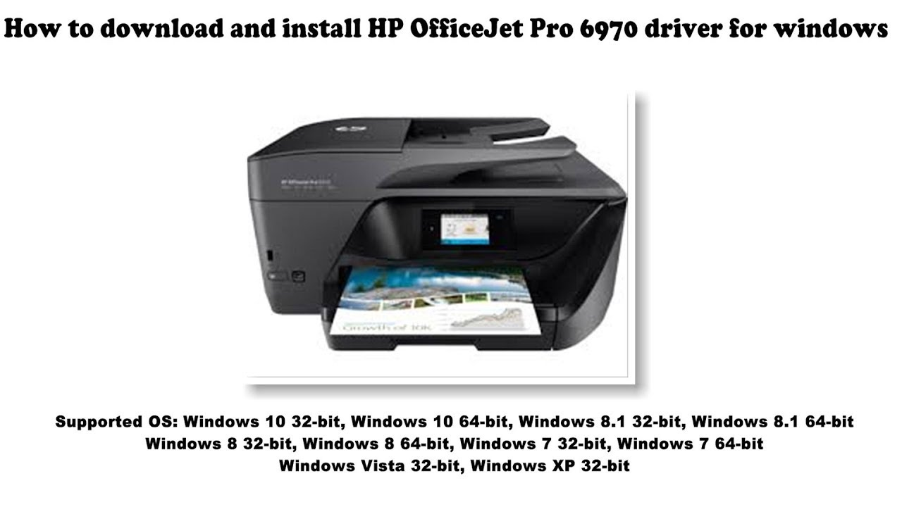How To Download And Install Hp Officejet Pro 6970 Driver Windows