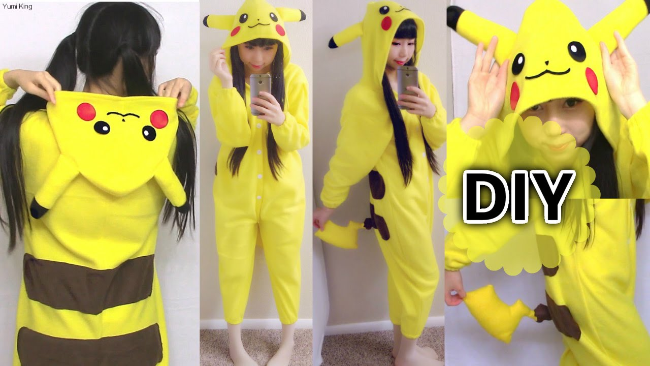 Homemade Pikachu Costumes