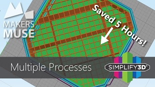 print faster using multiple processes in simplify3d 3d printing 101