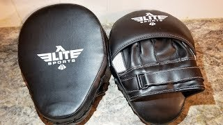 Elite Sports Focus Mitts For Boxing and MMA Unboxing and Review.
