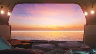 Sleep in the cąr on the beach | Car Camping | Pebble beach