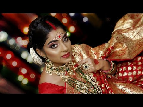 Dusky Bong Beauty || Bridal Makeup On Dusky Indian || HudaBeauty || Makeover By Reshmi