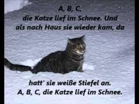 Kinderlieder! A B C, die Katze lief im Schnee mit Text