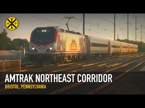 Amtrak MARC Equipment Move Through Bristol, PA