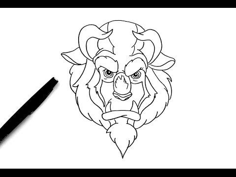 Comment dessiner la b te la belle et la b te youtube - Coloriage de la belle et la bete ...