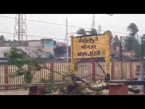 "Chennai ""Vardah Cyclone"" effects covarage at Minjur"