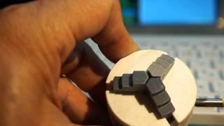 3Dプリンタで作成した45mm自動調芯チャック