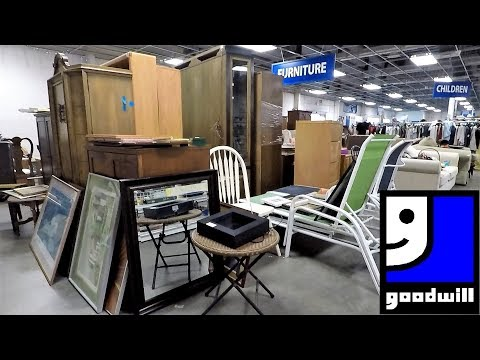 THE GOODWILL STORE SPRING 2019 FURNITURE HOME DECOR SHOP WITH ME SHOPPING STORE WALK THROUGH 4K