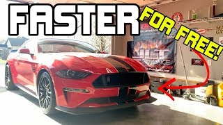 HOW to make your 2018-2019 Mustang GT FASTER FOR FREE- JUST BY DOING THIS!