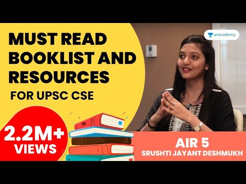 Booklist And Resources For UPSC CSE By UPSC Topper 2018 AIR 5 Srushti Jayant Deshmukh