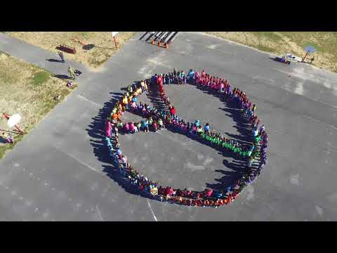 Southside Primary School Peace Sign Formation 2017