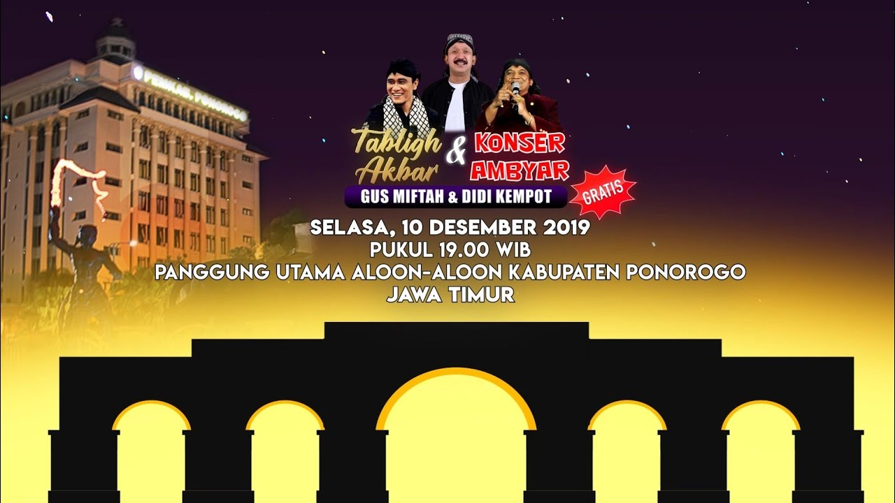 Official Tvc Tabligh Akbar Konser Ambyar Pemkab Ponorogo