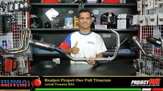 Knalpot Project One Titanium untuk Yamaha R25