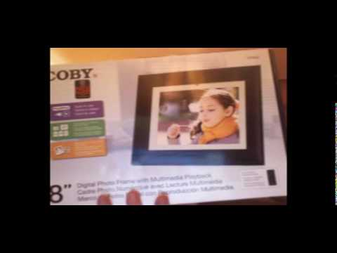 Review Of Coby Dp862 Digital Picture Frame Youtube