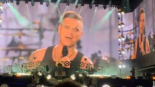 Robbie Williams - Angels / My way. 4K Live at British Summer Time, Hyde Park, London, UK!