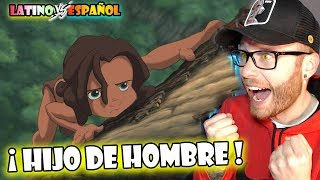 Español REACCIONA a DOBLAJE LATINO Tarzan 🐒😍👉🏼 HIJO De HOMBRE🎶😁🤘🏼  LATINO vs CASTELLANO