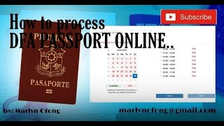 How to schedule for PASSPORT APPOINTMENT ONLINE!