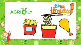 Agrioly | Bé Tập Vẽ Và Tô Màu Thức Ăn Nhanh