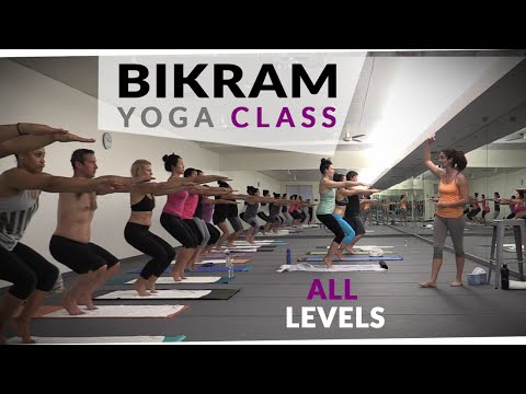 Bikram Yoga Workout �� 60 Minute Hot Yoga with Maggie Grove