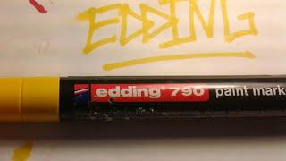 """Обзор на маркеры edding 790 """"желтый"""" paint marker"""