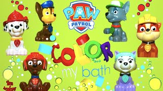 Color My Bath with Paw Patrol Learning Colors for Toddlers | Toys Academy
