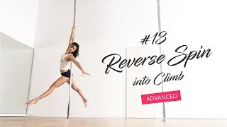Master one-arm pole dance spins and transitions (Reverse Spin)