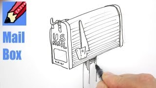 How to draw a Mail Box - Real Easy