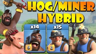 HOGS? MINERS? BOTH!! TH12 Hog Miner HYBRID Attack Strategy - Best TH12 Attack Strategies in CoC