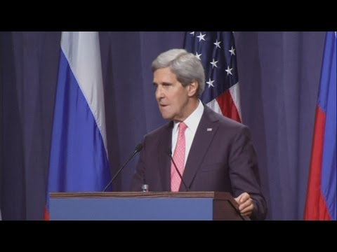 US and Russia agree Syria plan: John Kerry and Sergei Lavrov's Geneva press conference