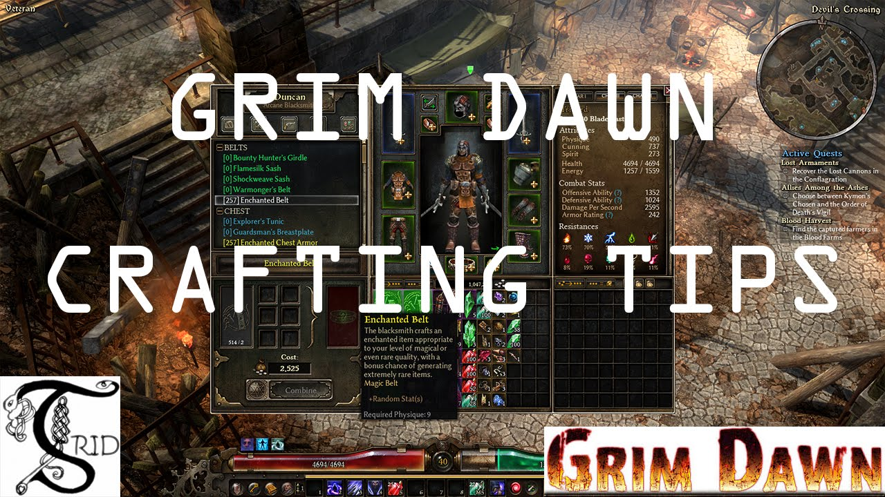 Grim Dawn - Crafting and Tips