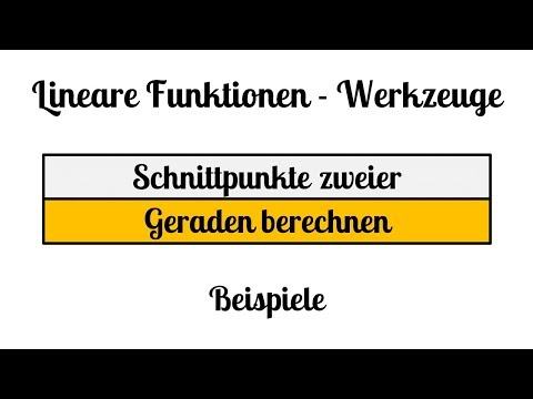 SCHNITTPUNKTE Gerade-Gerade Parabel-Gerade from YouTube · Duration:  6 minutes 51 seconds