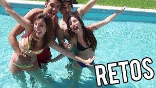 RETOS EN LA PISCINA   Lyna Vlogs ft. Team Anormal