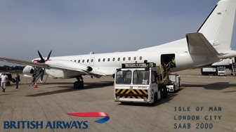 British Airways SAAB 2000 Full Flight - Isle of Man to London City