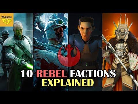 10 Rebel Alliance Factions Explained