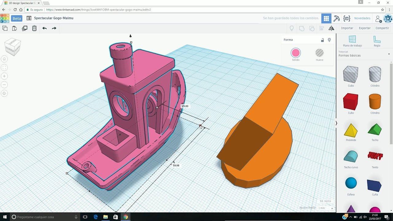 Tinkercad crear y modificar modelos 3d gratis para for Programas de diseno 3d gratis en espanol