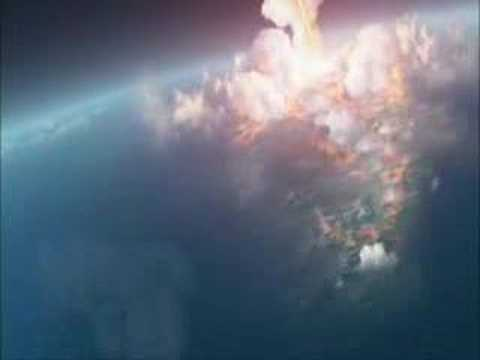 Earth being blown up