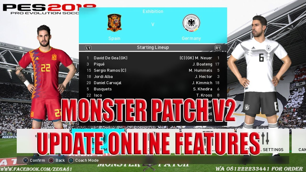 Download PES 2018 PS3 Monster Patch V2 Update Online Feature
