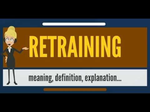 What is RETRAINING? What does RETRAINING mean? RETRAINING meaning, definition & explanation