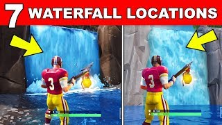 Visit Different Waterfalls - ALL 7 LOCATIONS OVERTIME CHALLENGES FORTNITE Free Rewards
