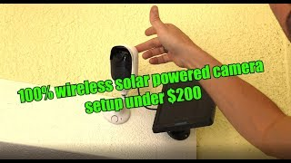 HOW TO SETUP AND INSTALL WIRELESS VIDEO SURVEILLANCE CCTV CAMERAS WITH SOLAR PANELS !!!