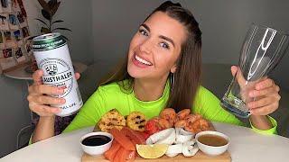 КАК БРОСИТЬ КУРИТЬ МОЯ ИСТОРИЯ МУКБАНГ морепродукты пиво креветки MUKBANG не АСМР