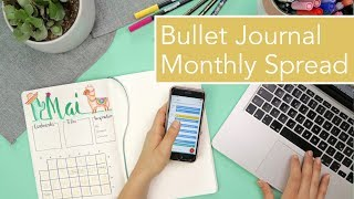 DRAW MY MAI: Bullet Journal Monthly Spread #SAMSTAGSVIDEO