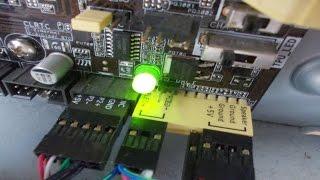 Як підключити кнопки power,reset і індикатори на передній панелі ПК